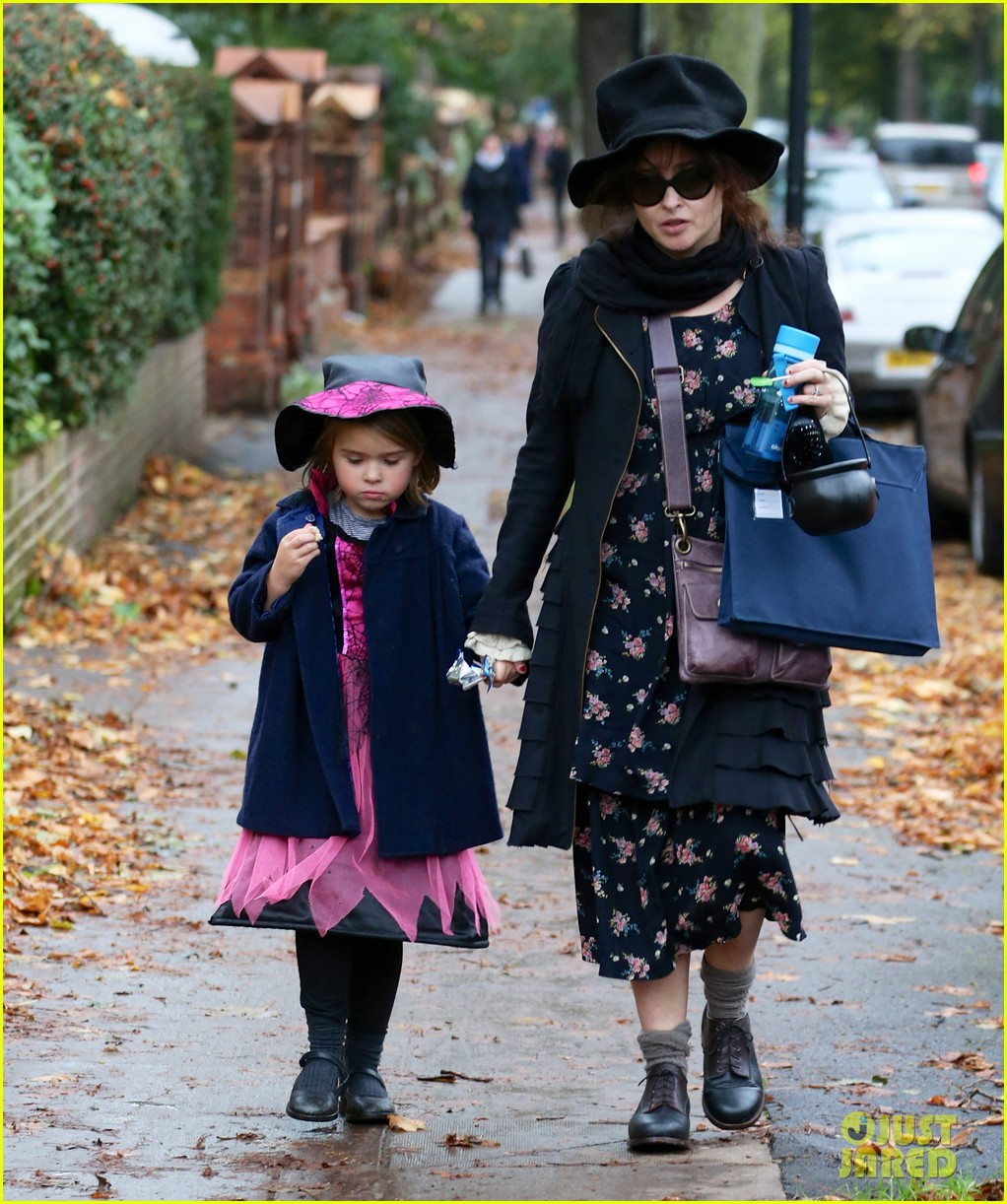 helena bonham carter trick or treats with daughter nell 052983755