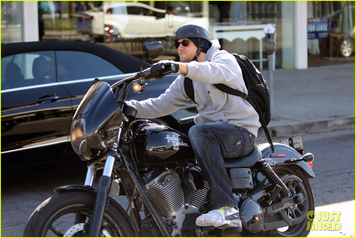 Charlie Hunnam: West Hollywood Motorcycle Man!: Photo ...