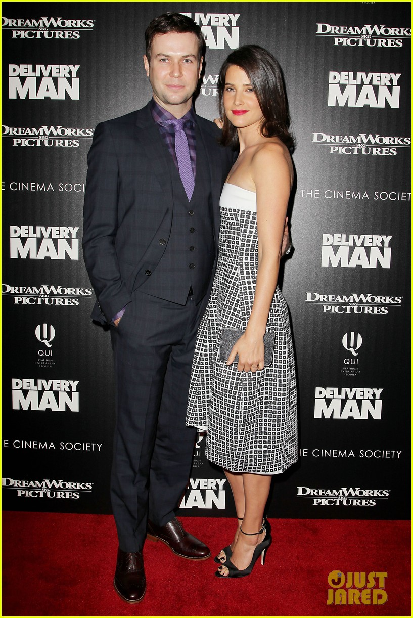 cobie smulders delivery man premiere with vince vaughn 15