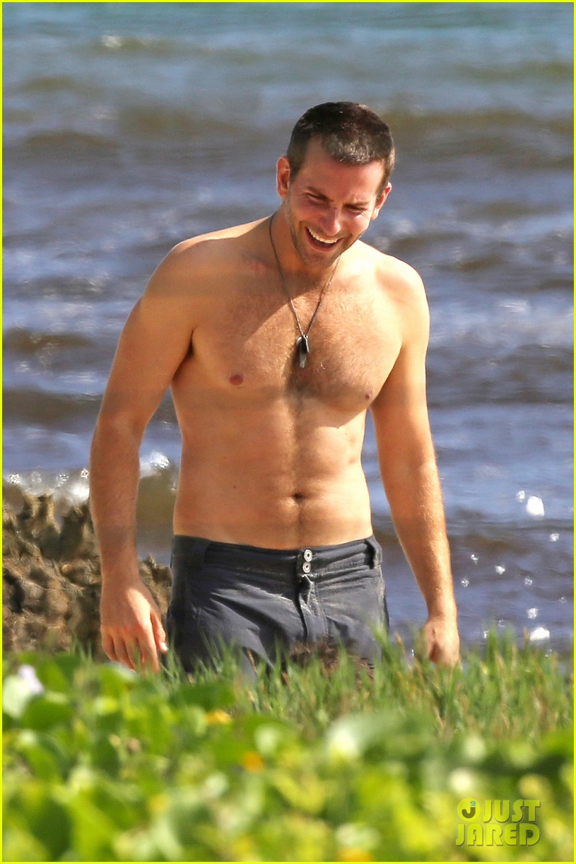 Full Sized Photo Of Bradley Cooper Shirtless With John