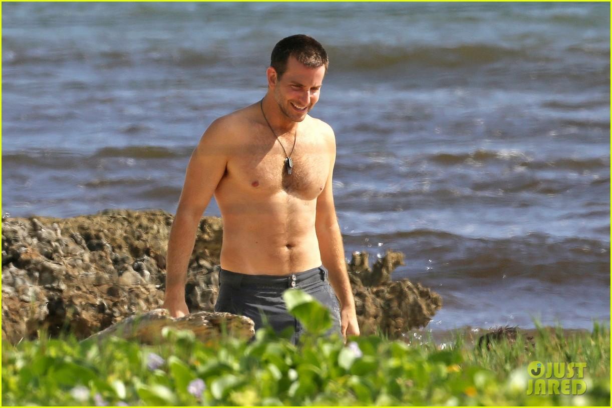 bradley cooper shirtless with john krasinski pregnant bikini clad emily blunt 332996573