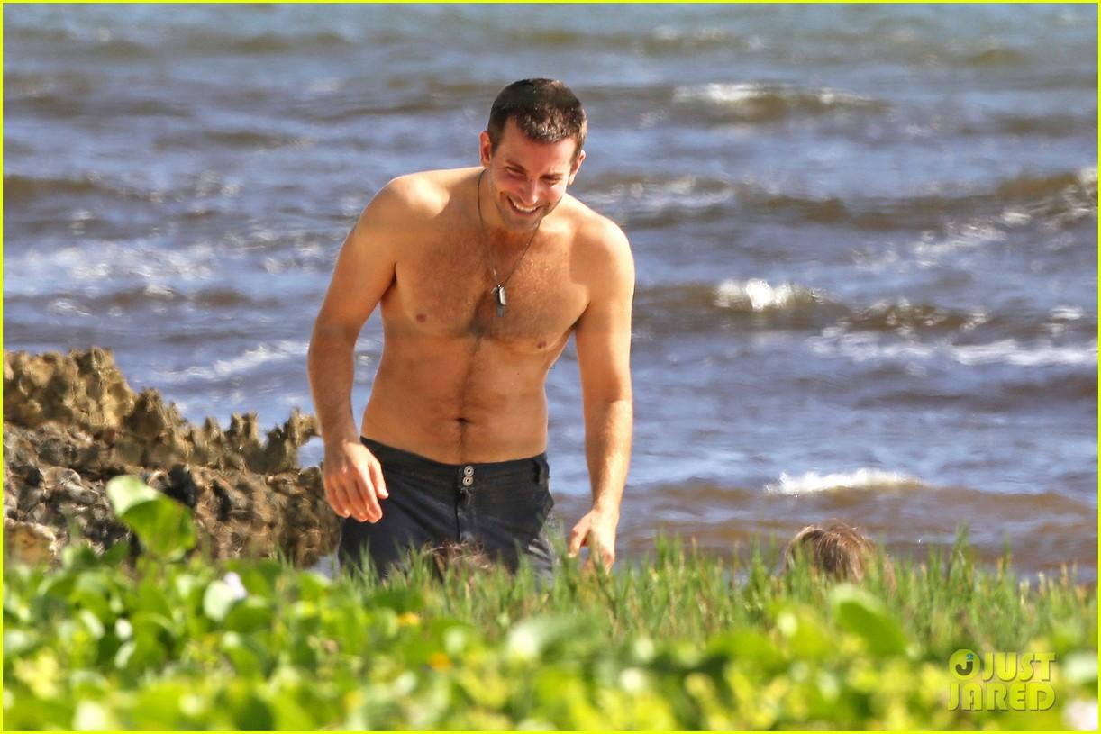 bradley cooper shirtless with john krasinski pregnant bikini clad emily blunt 342996574