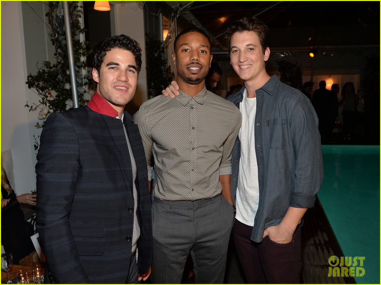 darren criss michael b jordan blue jeans go green party 30