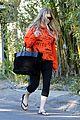 fergie halloween festive in orange sweatshirt 13