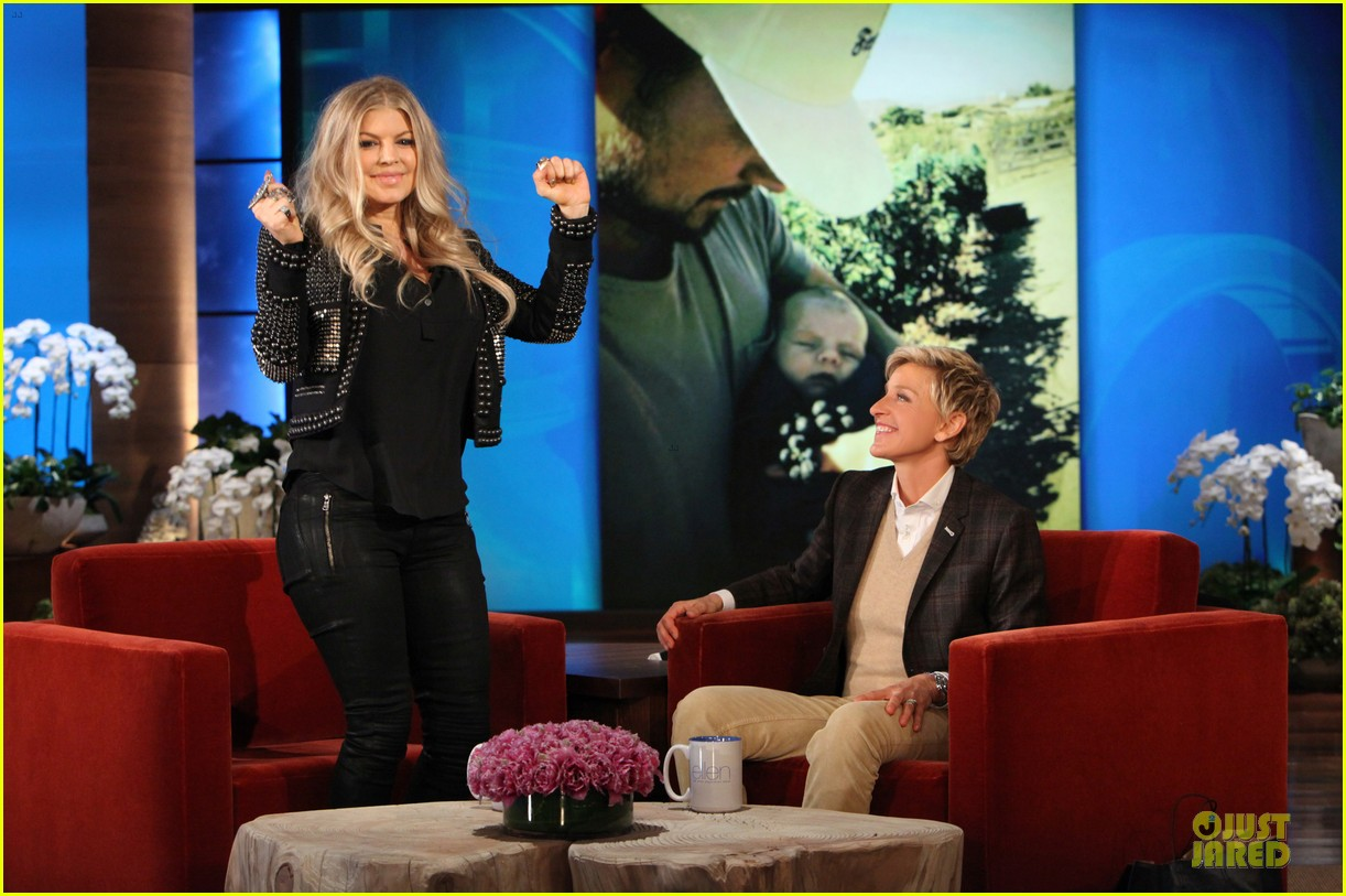 fergie talks axl c section birth on ellen 012996202