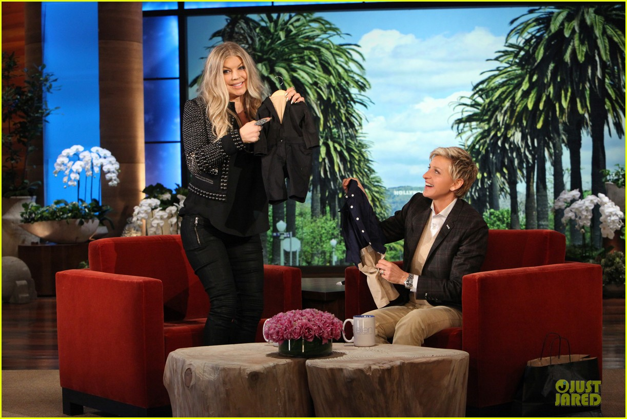 fergie talks axl c section birth on ellen 032996204