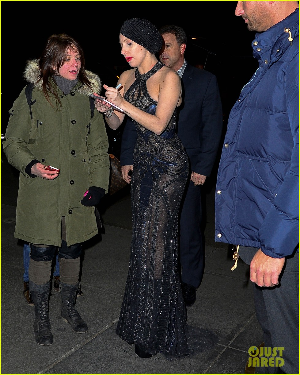 lady gaga greets fans after saturday night live rehearsals 05