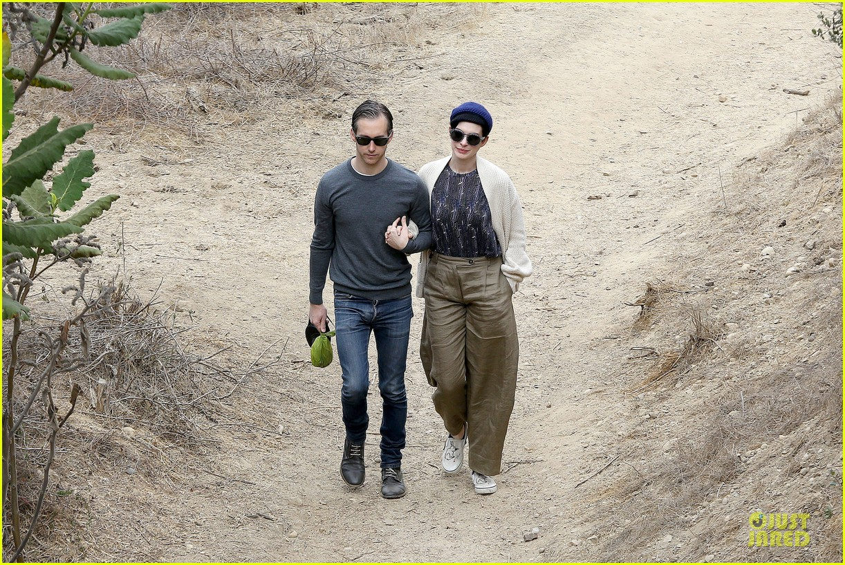 anne hathaway adam shulman hold hands for intimate walk 032994271