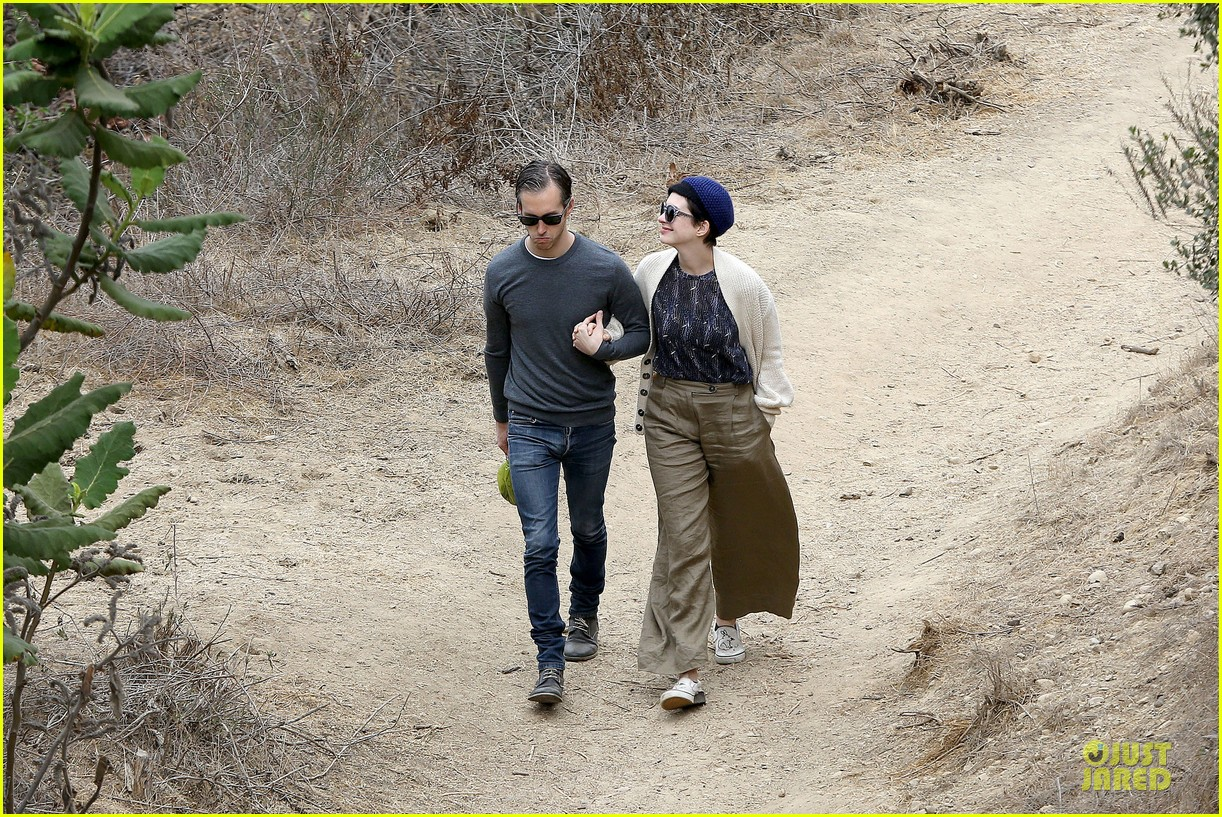 anne hathaway adam shulman hold hands for intimate walk 192994287