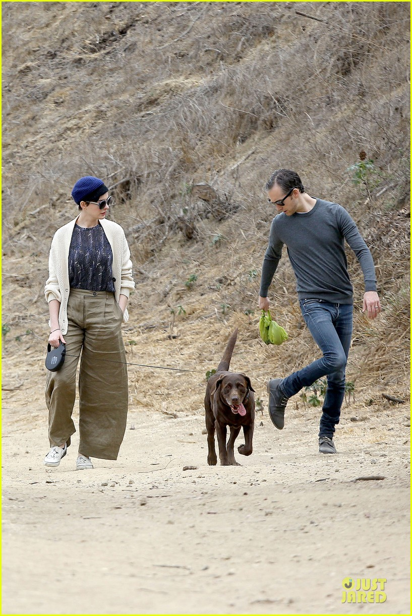 anne hathaway adam shulman hold hands for intimate walk 282994296