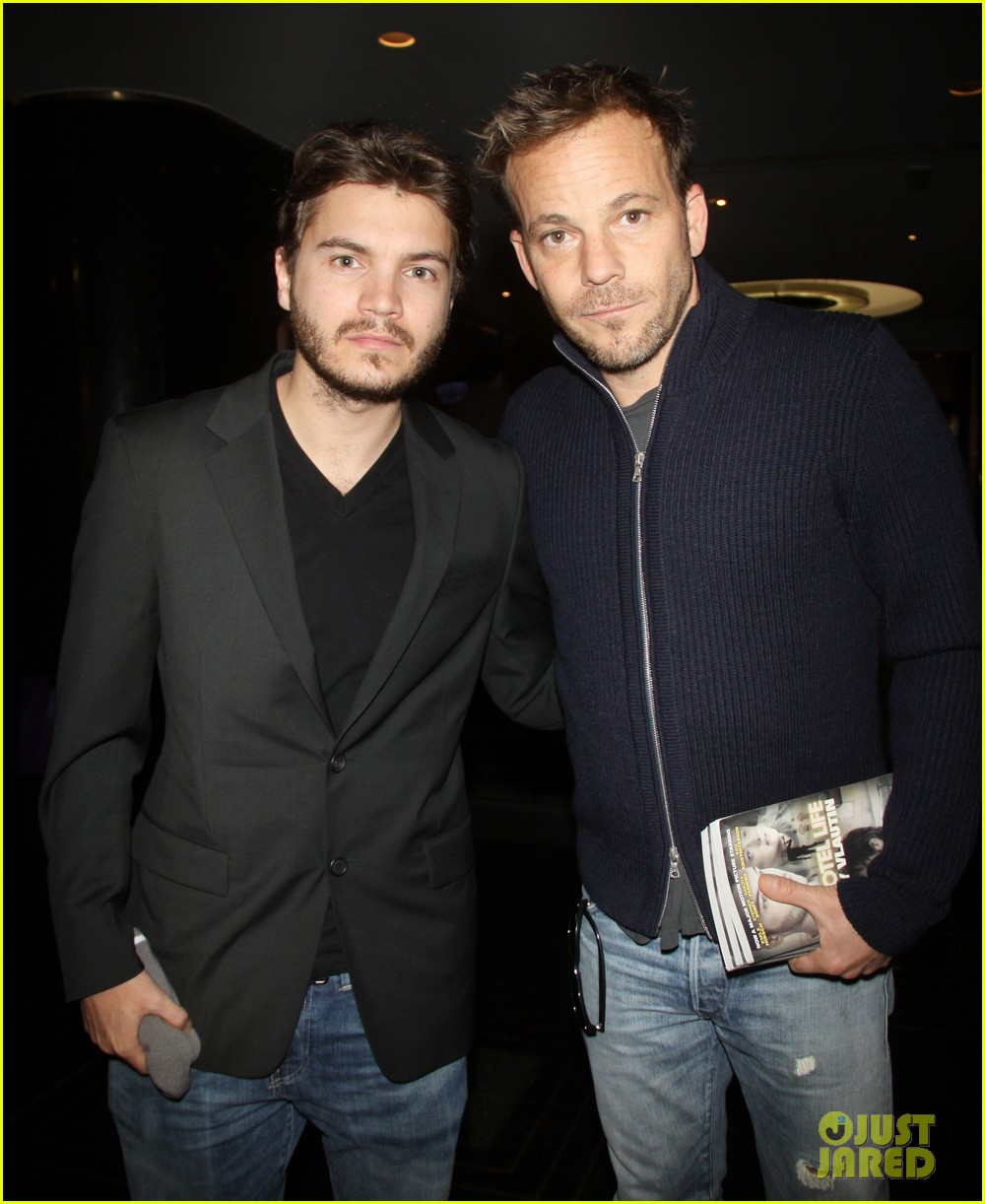 emile hirsch stephen dorff promote motel life in nyc 022987589