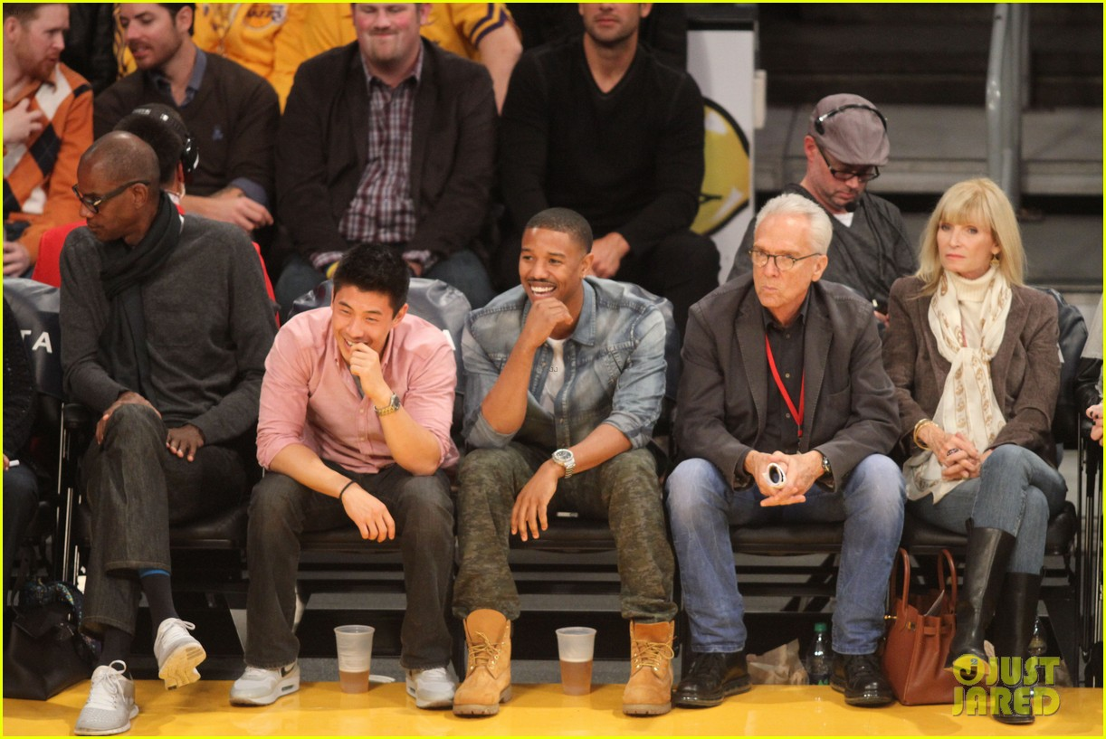 michael b jordan courtside seats at lakers v kings game 022999918