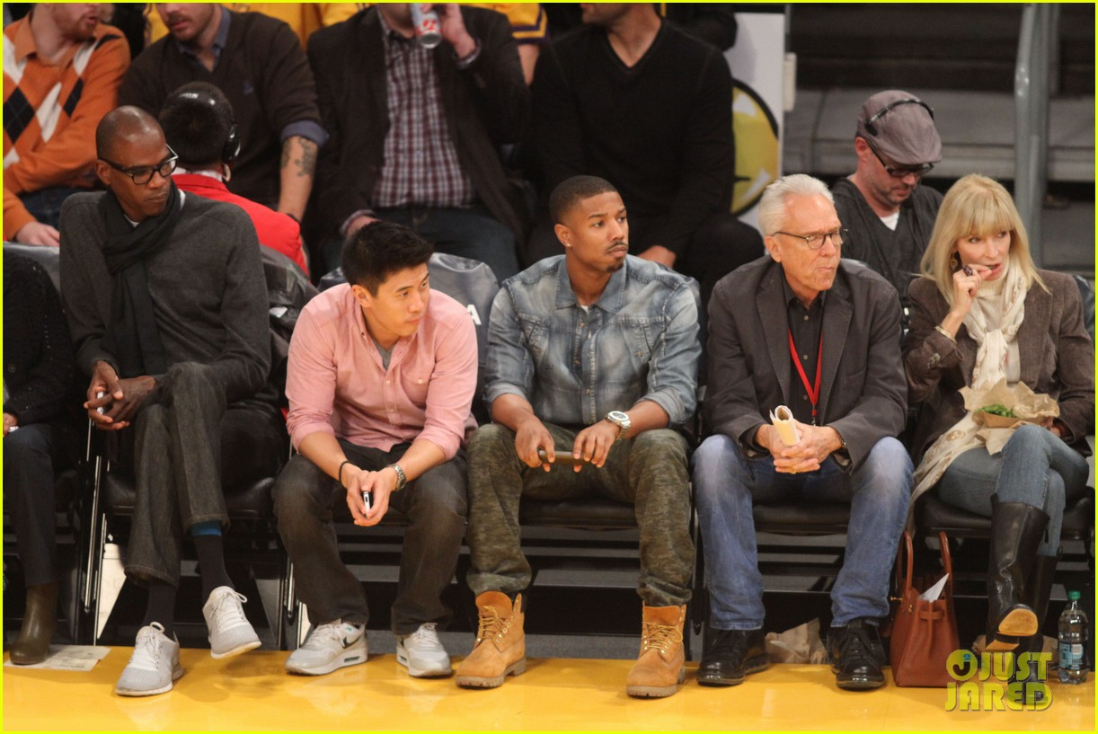 michael b jordan courtside seats at lakers v kings game 112999927