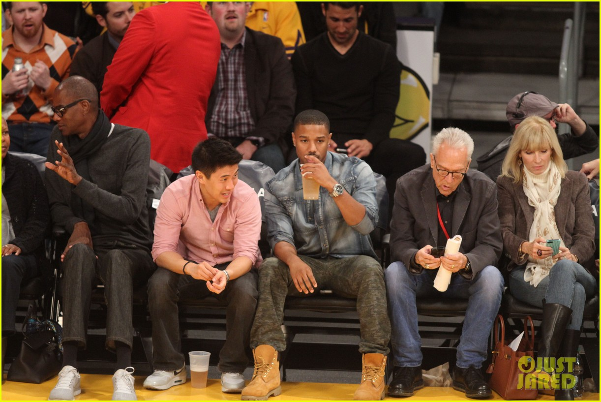 michael b jordan courtside seats at lakers v kings game 182999934
