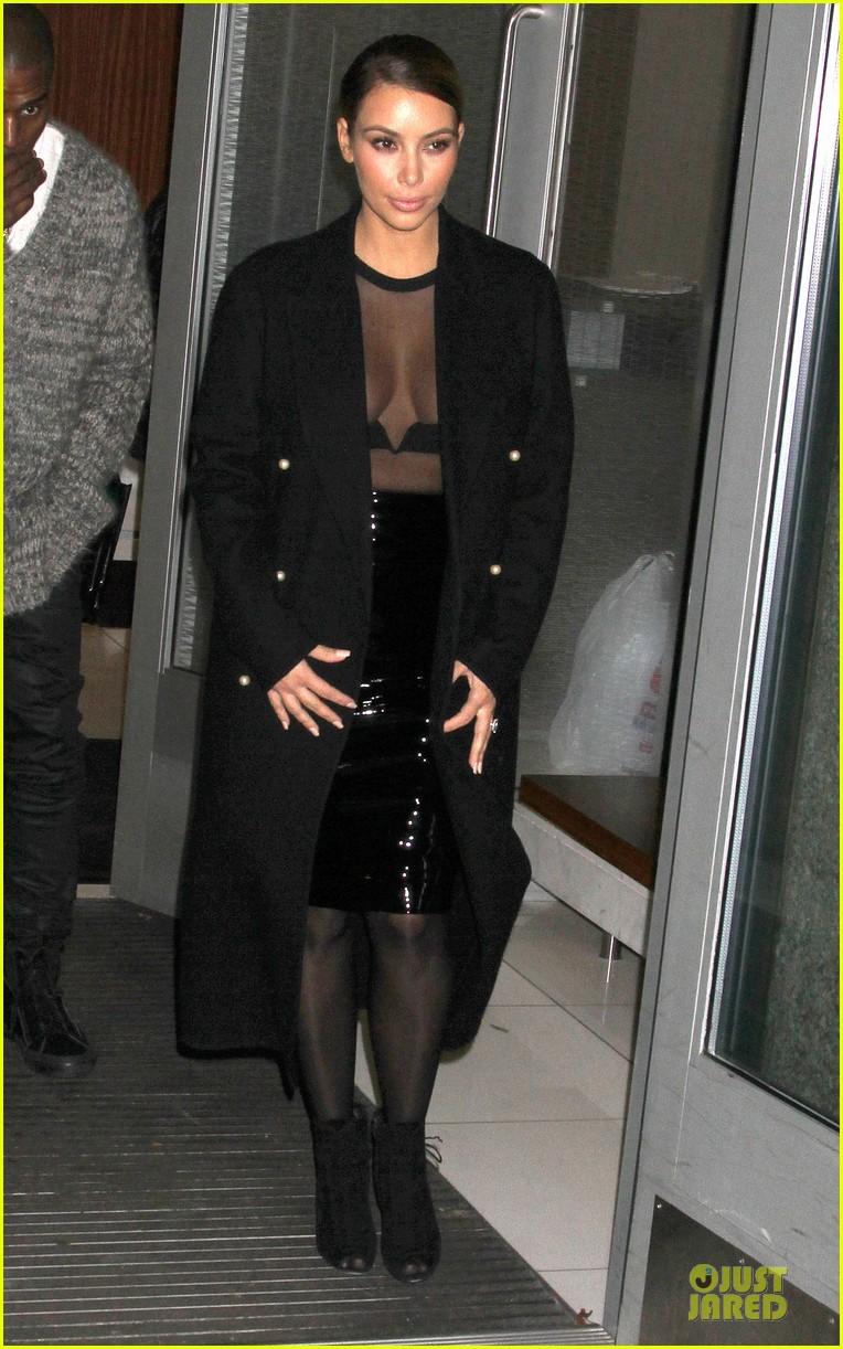 kim kardashian sheer cleavage for kanye west concert 112996263
