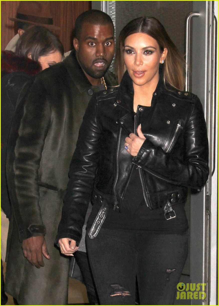 kim kardashian kanye west smile big for lucky fans 18