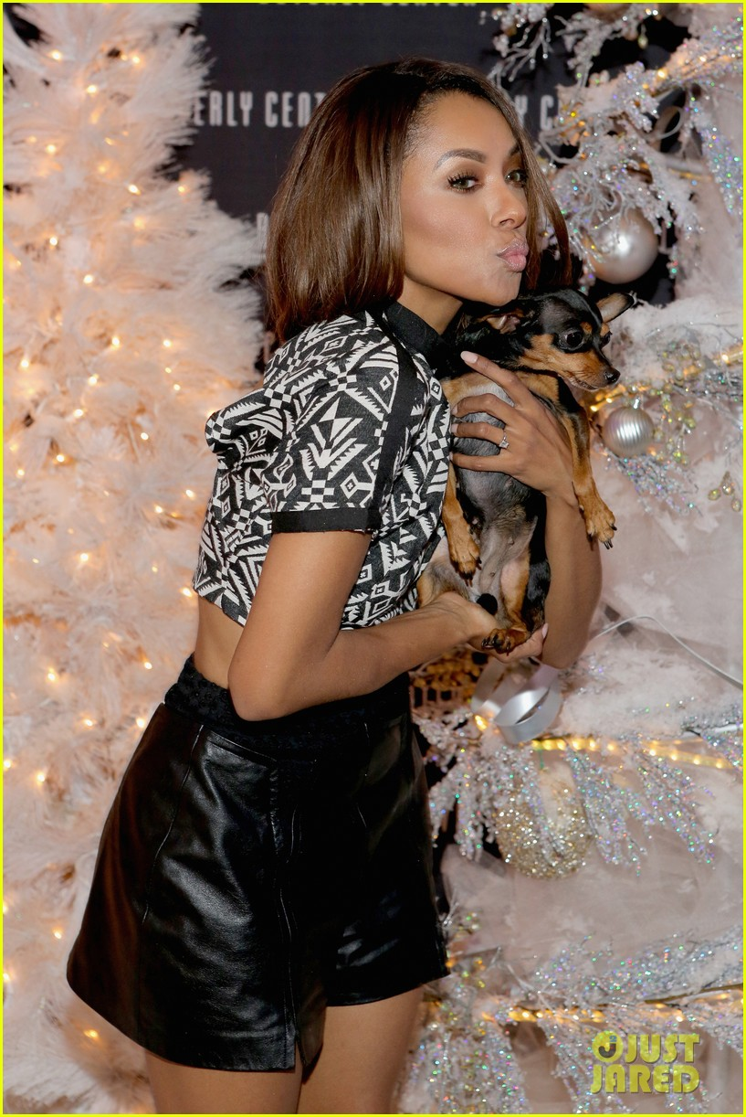kat graham pet pup izzy beverly center pet portrait kick off 01