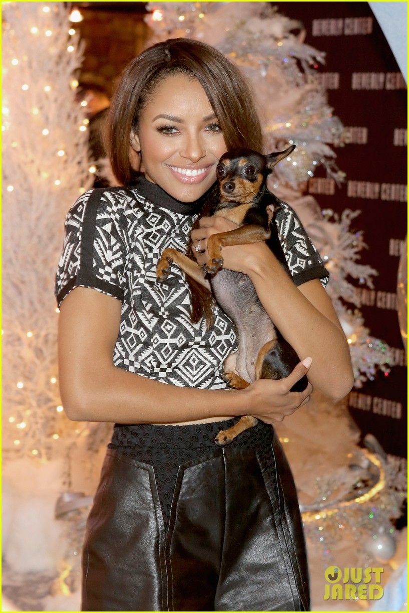 kat graham pet pup izzy beverly center pet portrait kick off 132993320