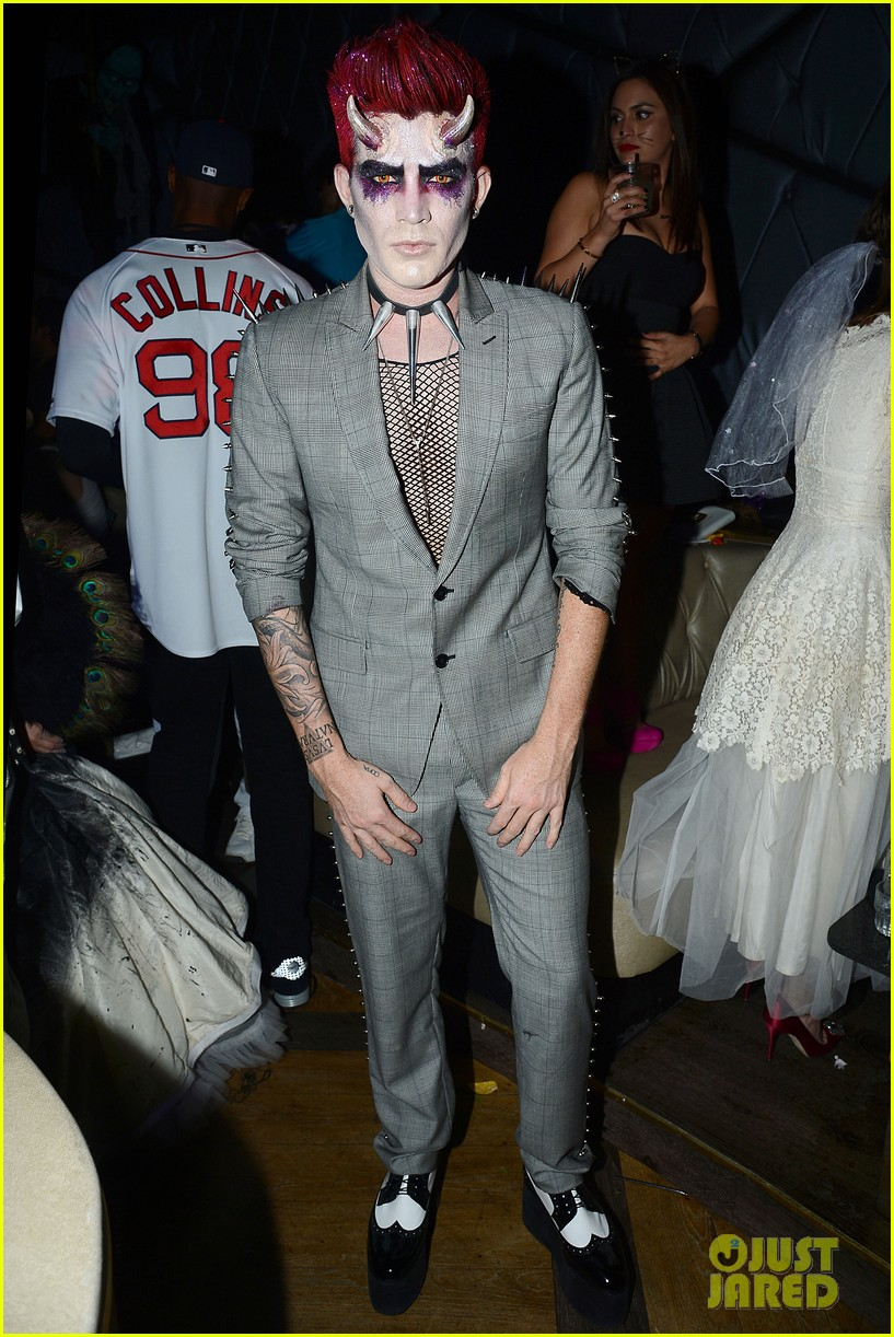 adam lambert hosts halloween party goes as devil 01