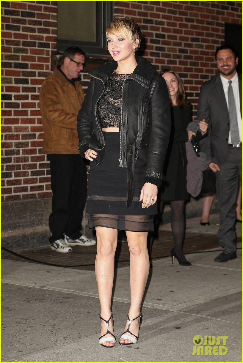 jennifer lawrence visits letterman with older brother ben 112996796