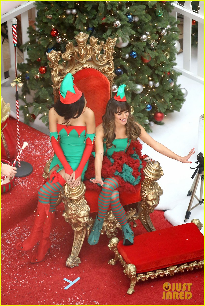 lea michele naya rivera santas sexy little helpers 172987831