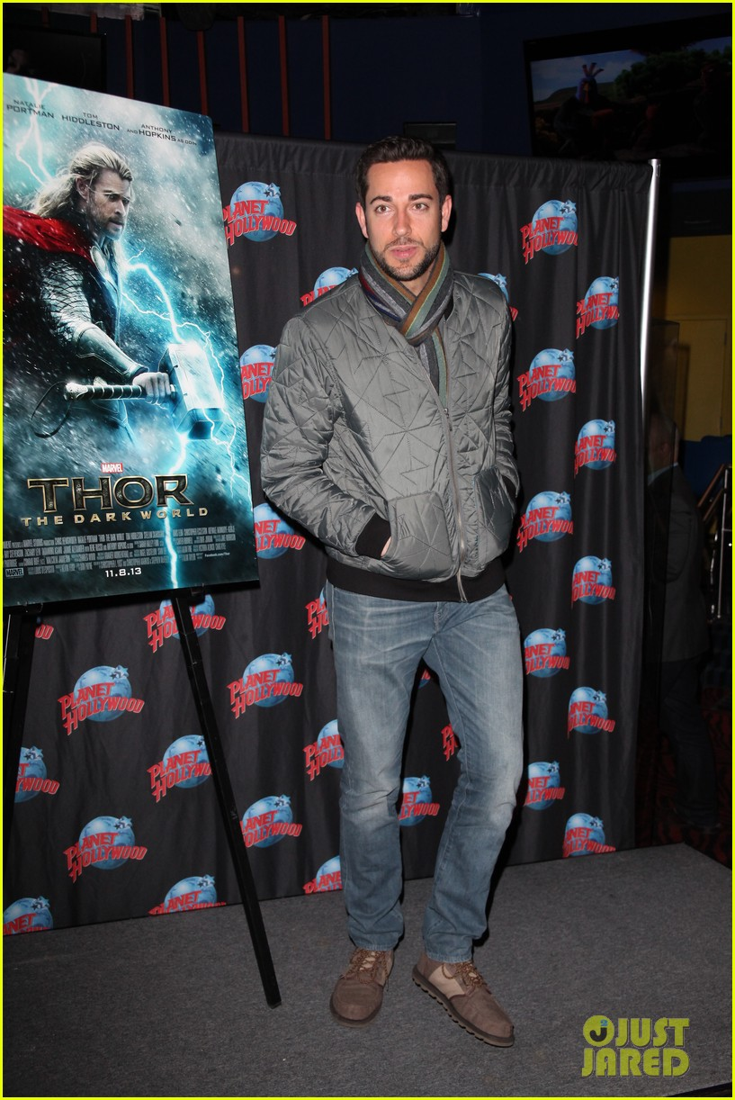 zachary levi planet hollywood handprint ceremony 03