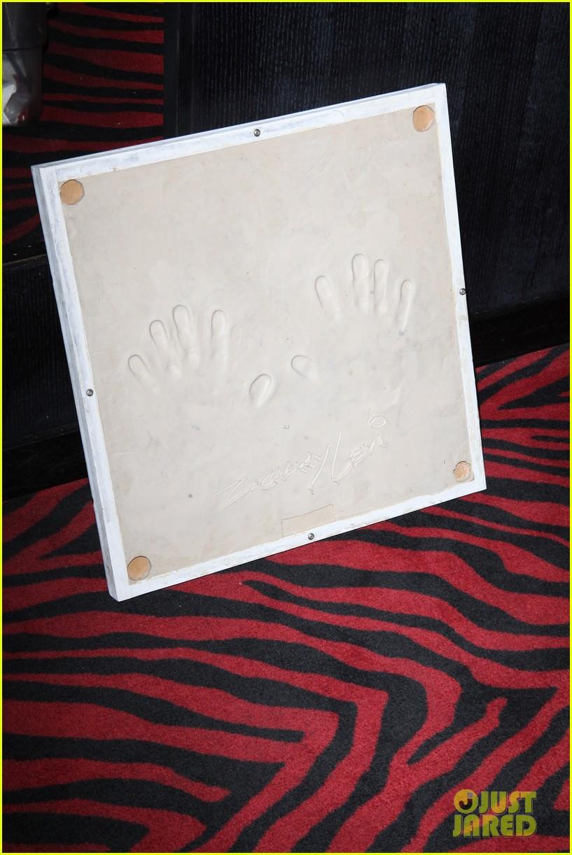 zachary levi planet hollywood handprint ceremony 12