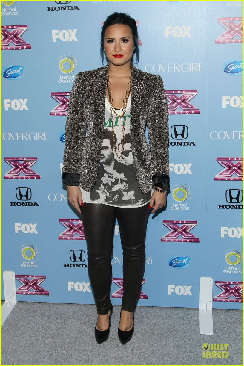 demi lovato kelly rowland x factor finalists party 13