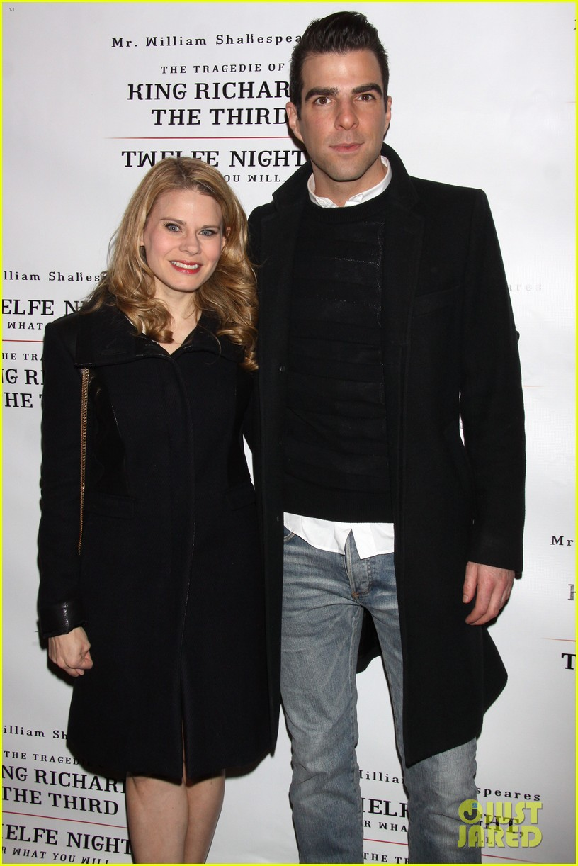zachary quinto sigourney weaver twelfth night opening night 02