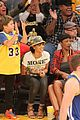 rihanna bff melissa forde hold hands at lakers game 03