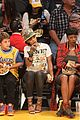 rihanna bff melissa forde hold hands at lakers game 13