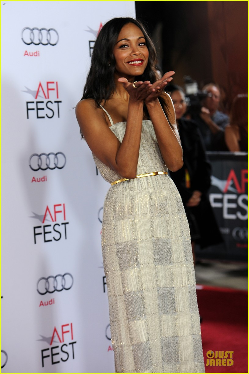 zoe saldana out of the furnace hollywood screening 02