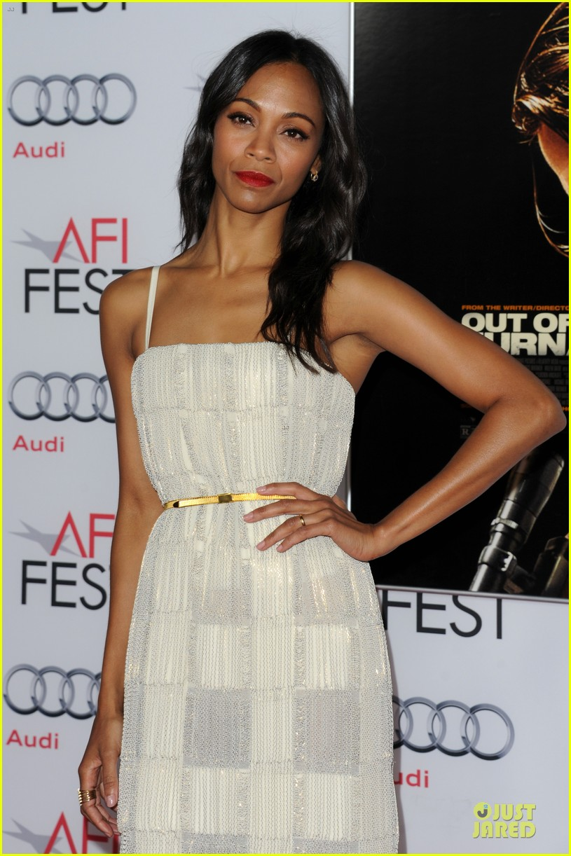 zoe saldana out of the furnace hollywood screening 15
