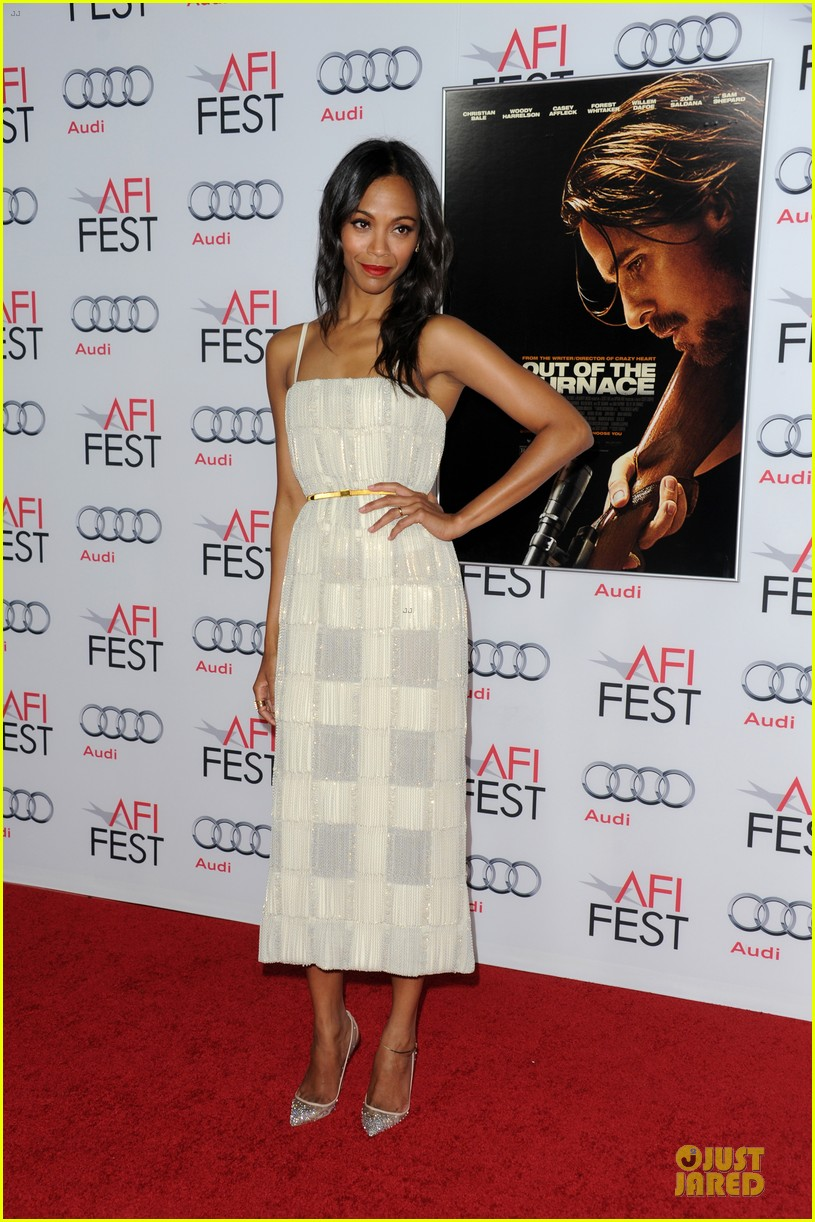 zoe saldana out of the furnace hollywood screening 16