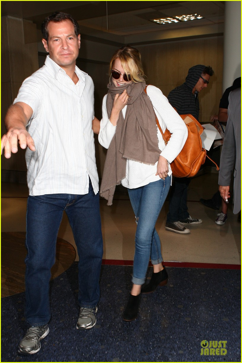 emma stone lands in lax airport after quiet few months 142993877