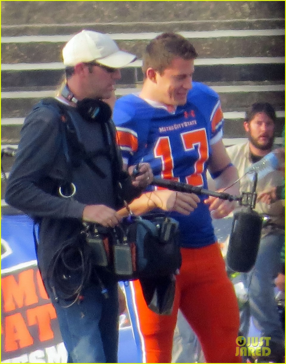 channing tatum filming 22 jump street football game 19