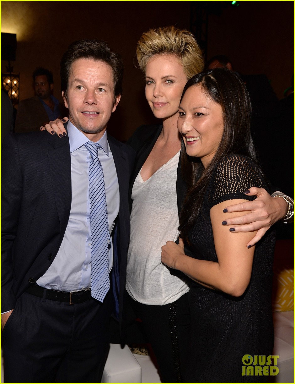 charlize theron mark wahlberg reunite at premiere after party 16