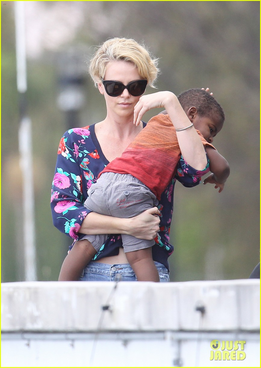 charlize theron sydney outing with her little man jackson 09
