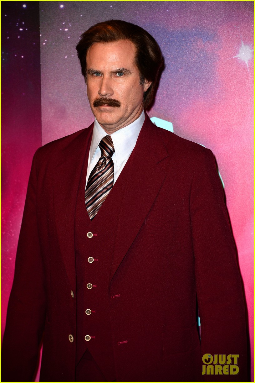 will ferrell as ron burgundy mtv ema 2013 red carpet 062989766