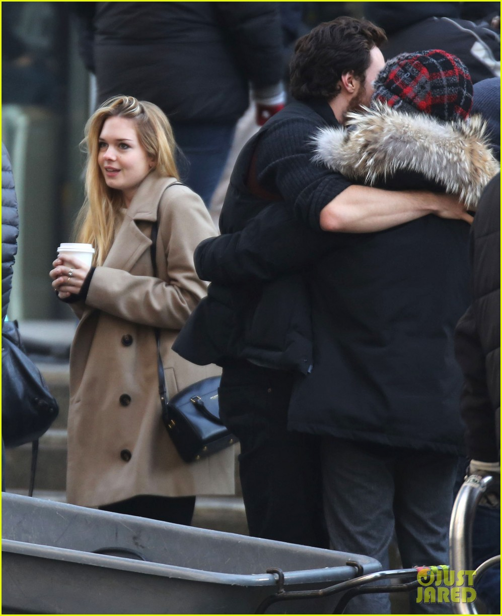 Full Sized Photo of aaron taylor johnson visits wife sam ...
