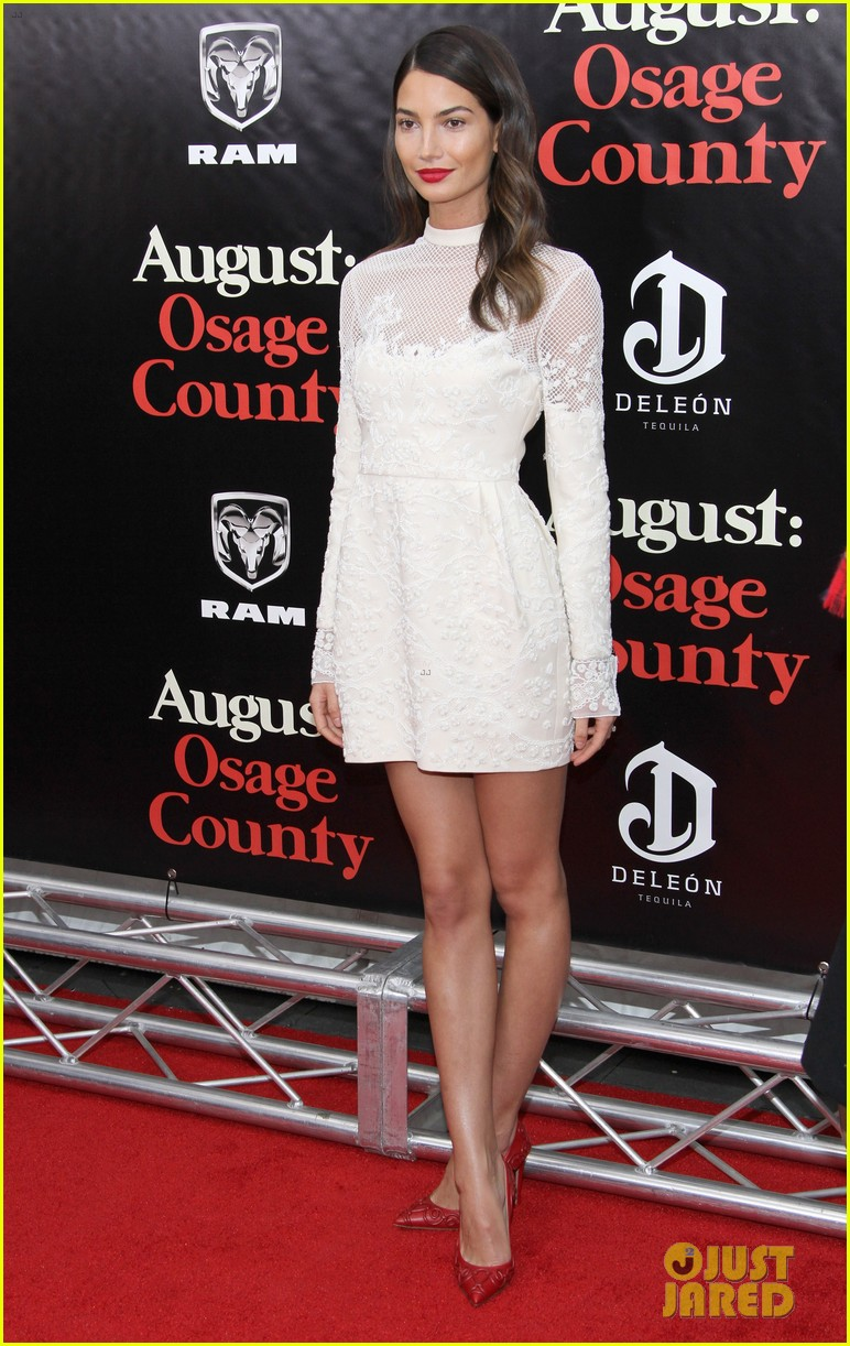 lily aldridge caleb followill august osage county premiere 12