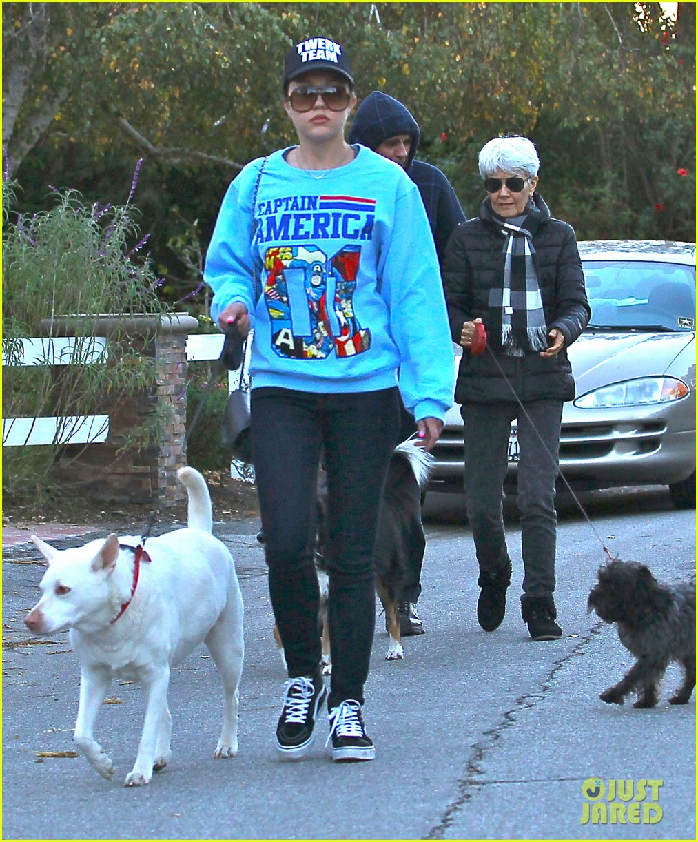 amanda bynes saturday stroll with parents pups 18
