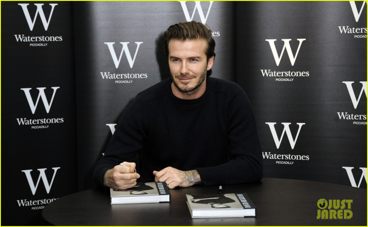 david beckham london book signing 09