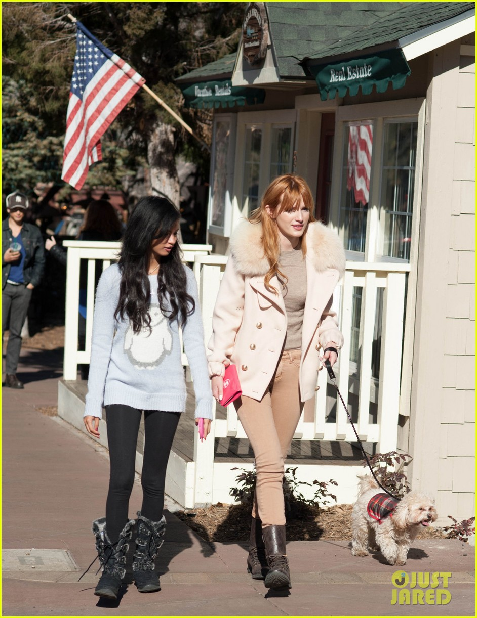 bella thorne big bear shopping trip 02