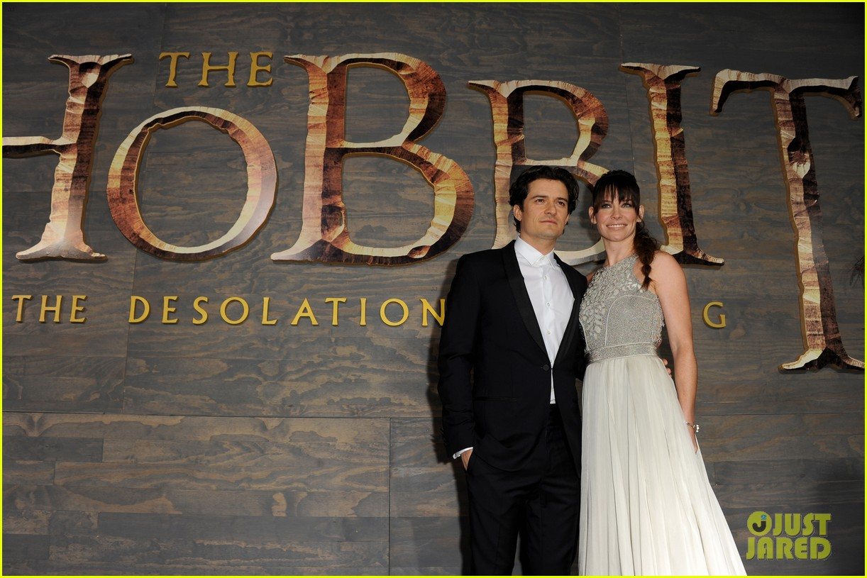 orlando bloom evangeline lilly hobbit hollywood premiere 08