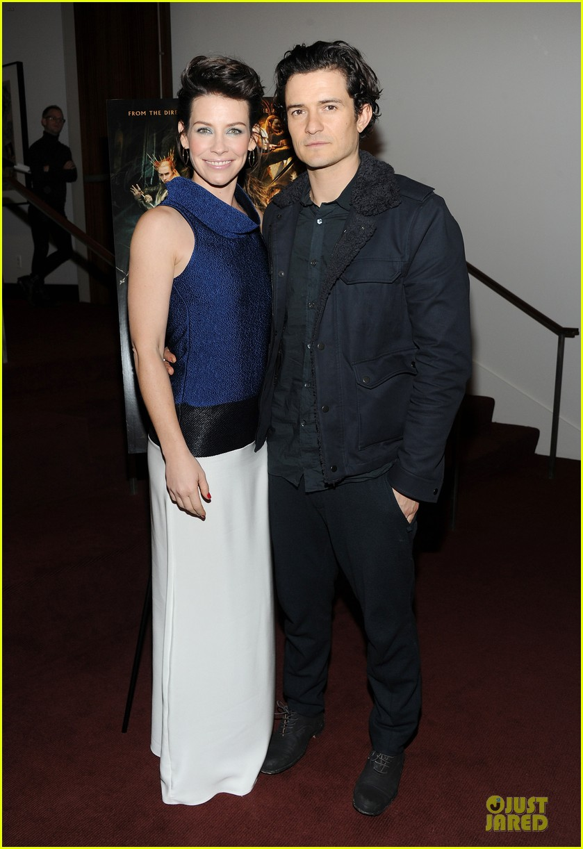 orlando bloom evangeline lilly hobbit nyc screening 013010226
