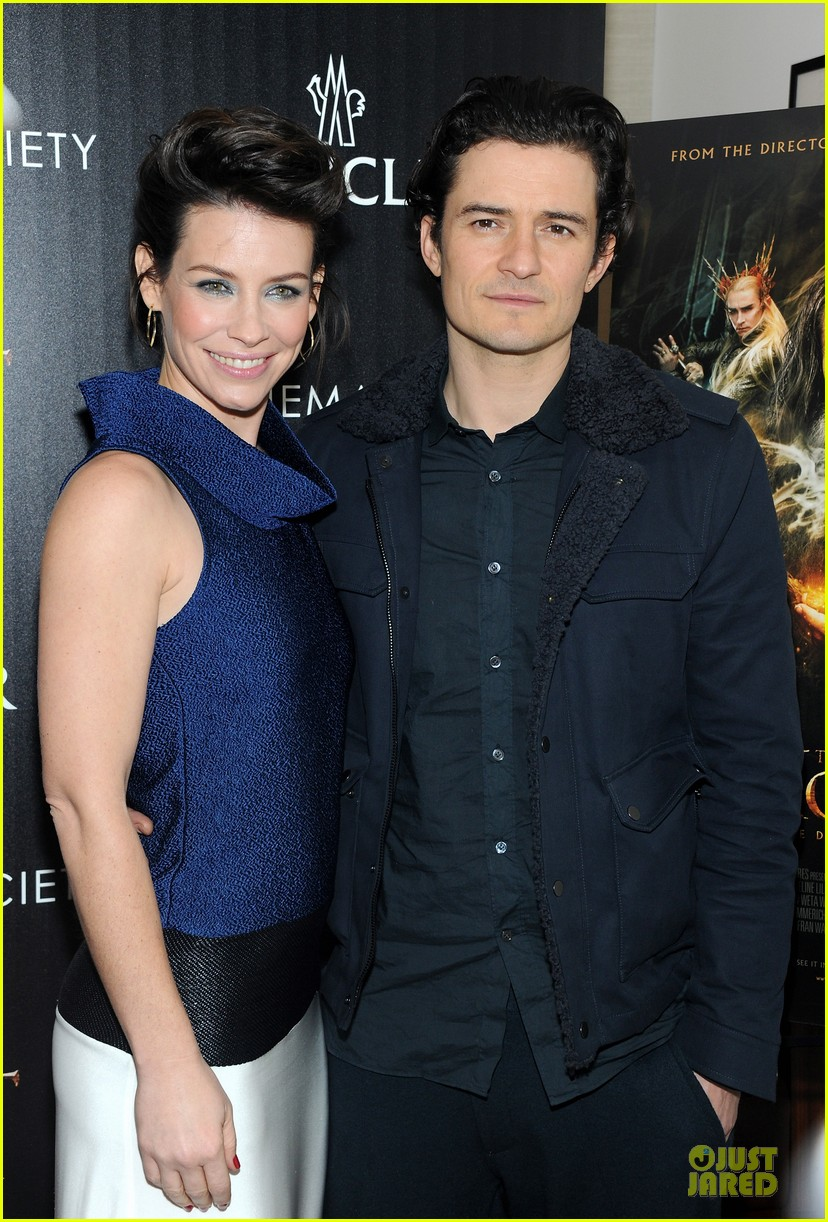 orlando bloom evangeline lilly hobbit nyc screening 16