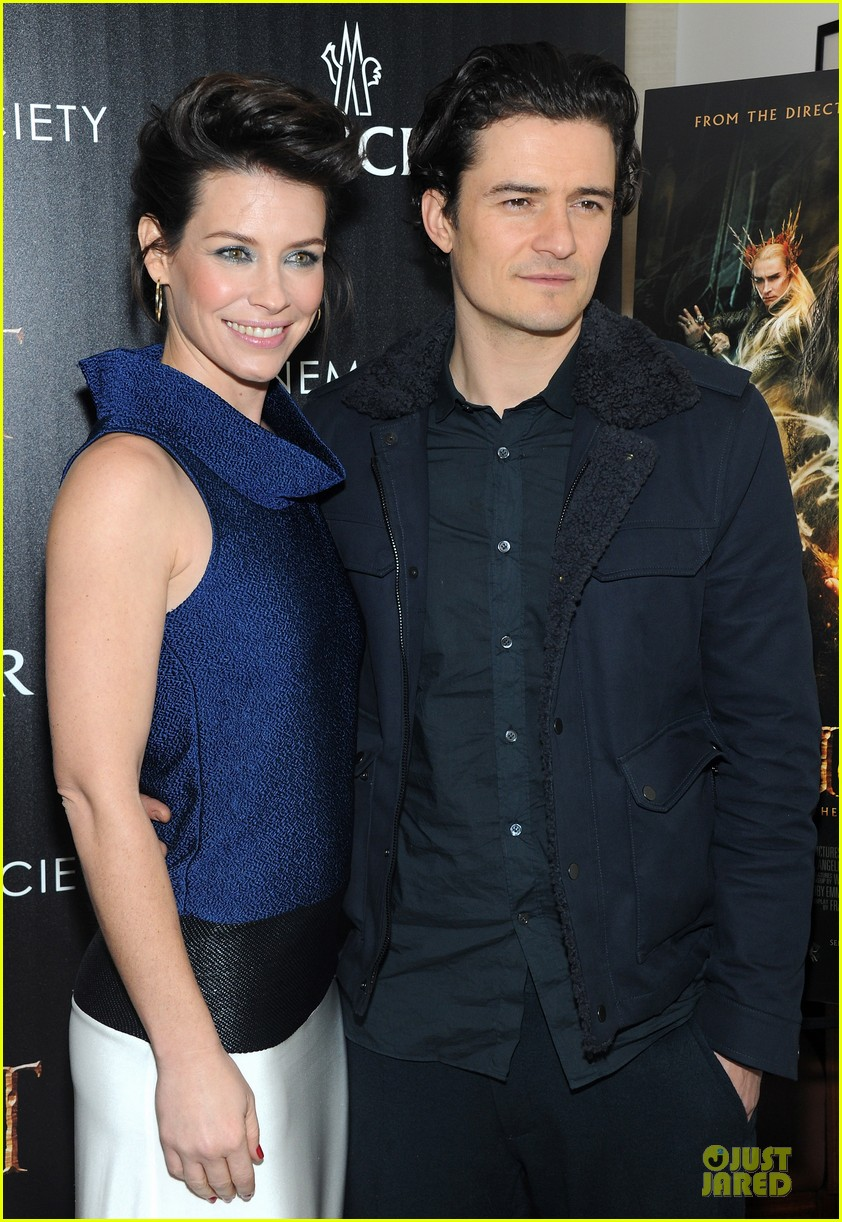 orlando bloom evangeline lilly hobbit nyc screening 203010245