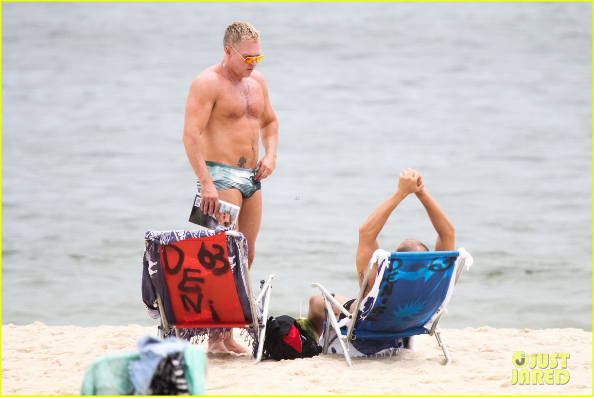 gmas sam champion shirtless buff beach time 14