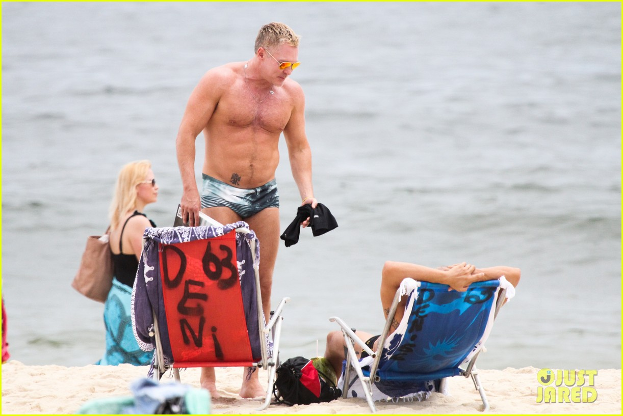 gmas sam champion shirtless buff beach time 163017887